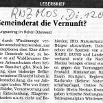 Leserbrief DFuckert RNZ 120416